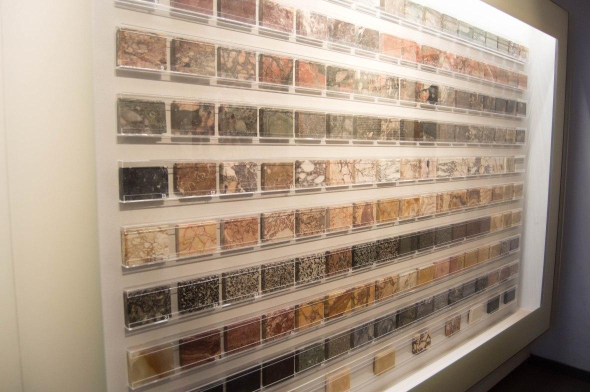 Stone Samples, Palatine Museum, Rome, Italy