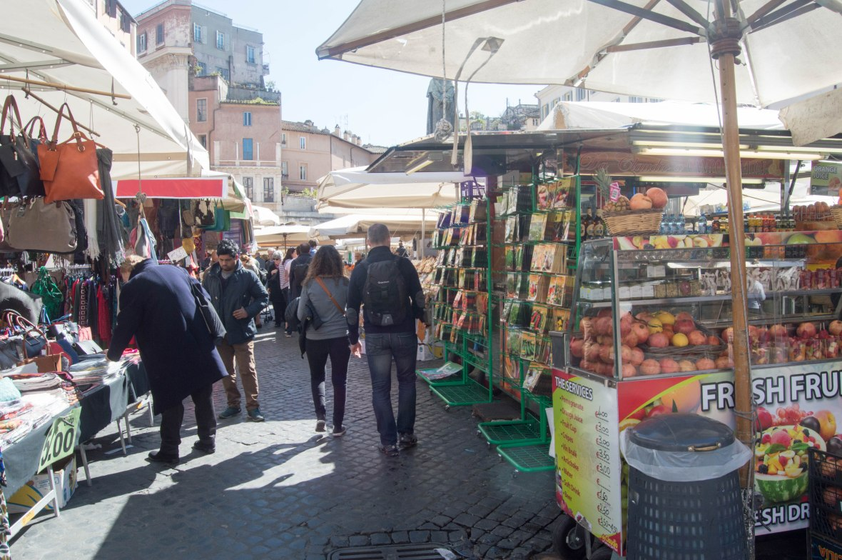 Walking Through Campo de' Fiori, Rome, Italy