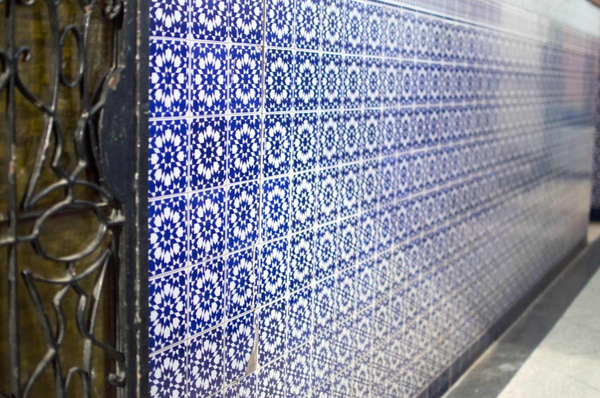 Blue And White Tiles, Marrakech, Morocco