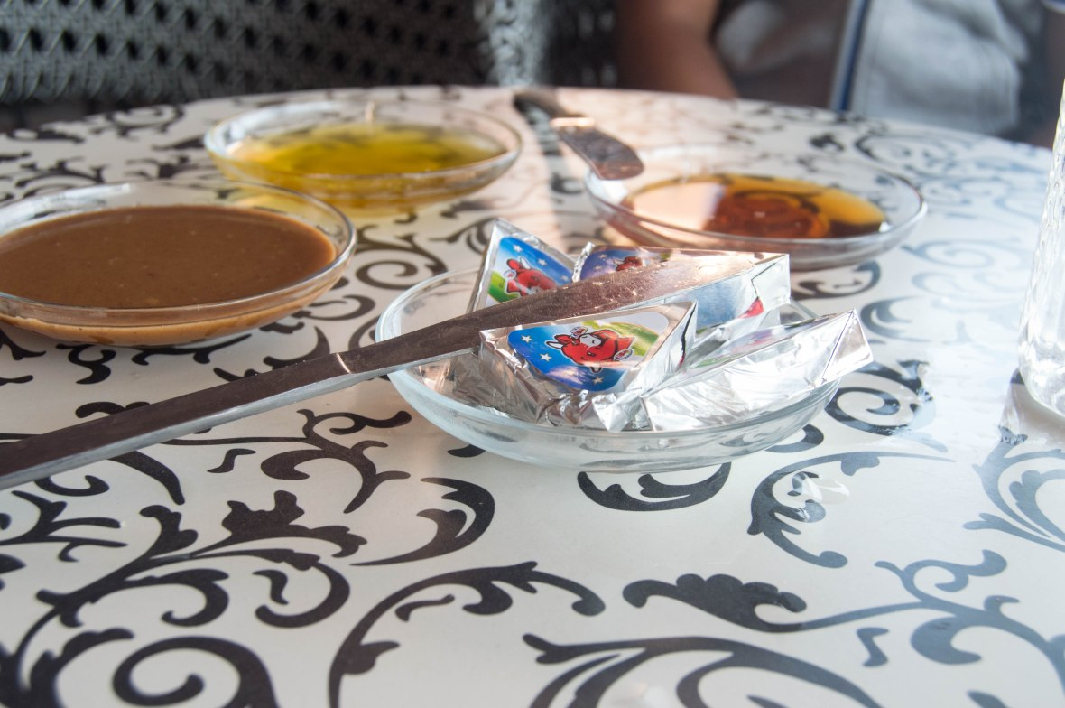 Breakfast Condiments, Road Side Cafe, Morocco