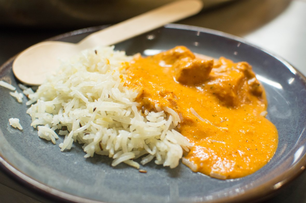 Butter Chicken With Rice, Darbaar Restaurant, London