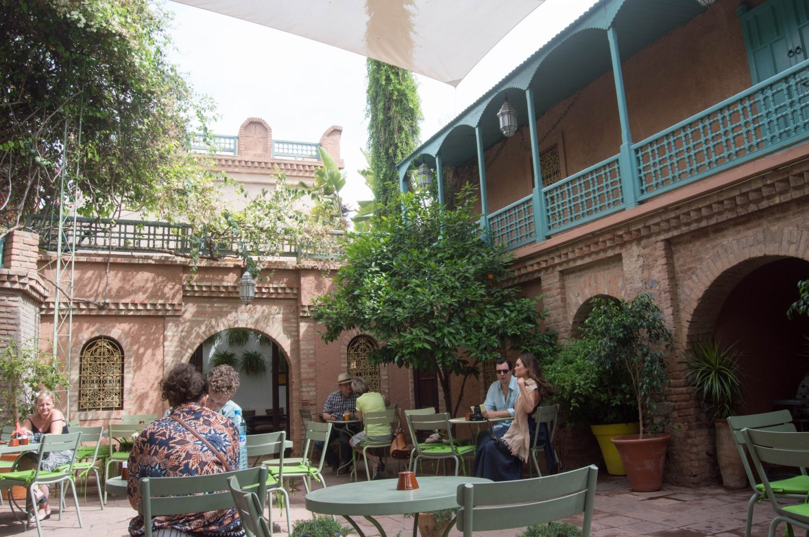 Cafe In Majorelle Garden, Marrakech, Morocco