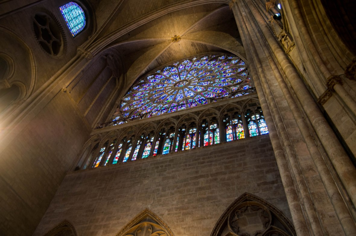 Circular Stain Glass Window, Notre Dame, Paris, France