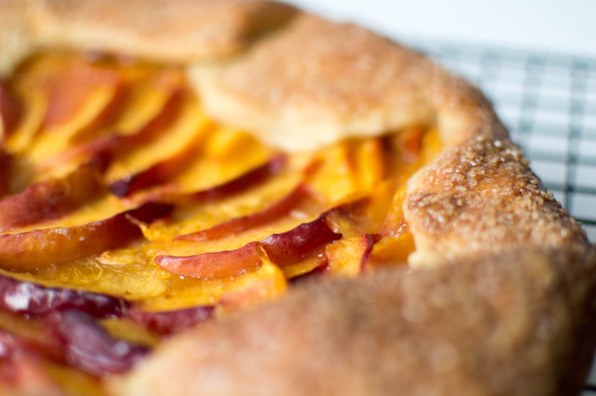 Close Up Of Peach Galette