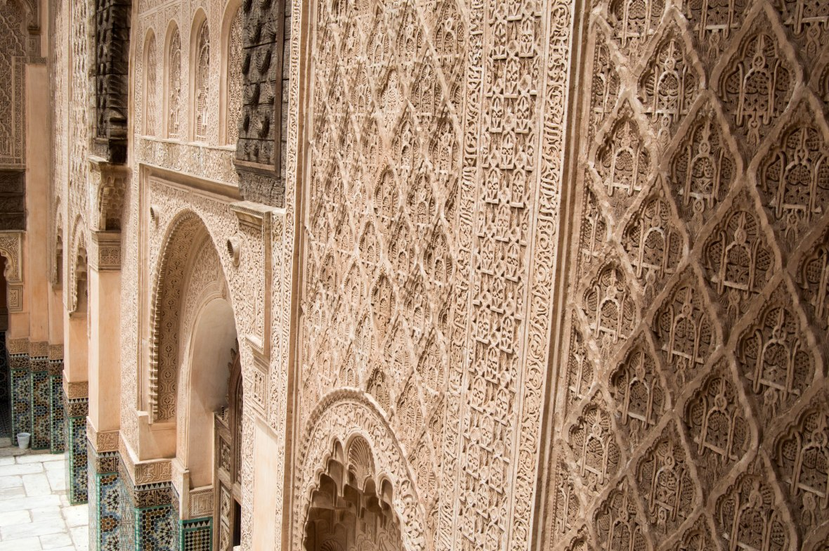Close Up Of The Walls, Ben Youssef Madrasa, Marrakech, Morocco