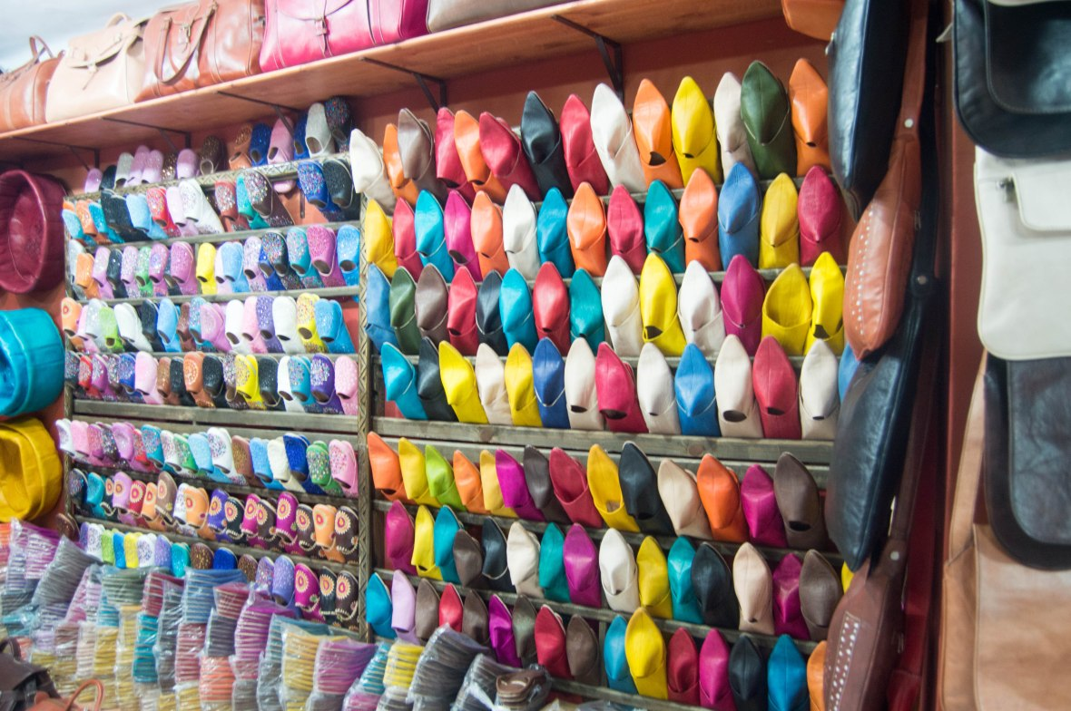 Colourful Babouches, Marrakech, Morocco