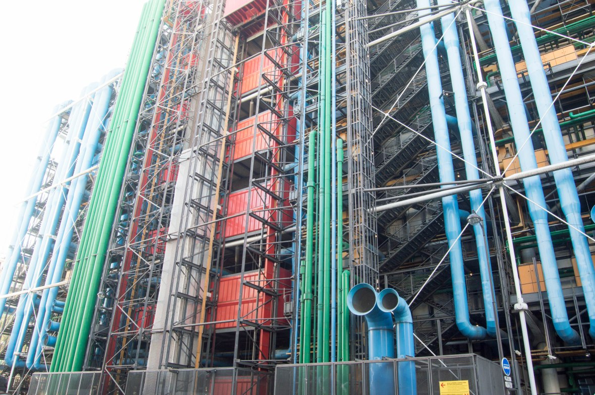 Colourful Centre de Pompidou, Paris, France
