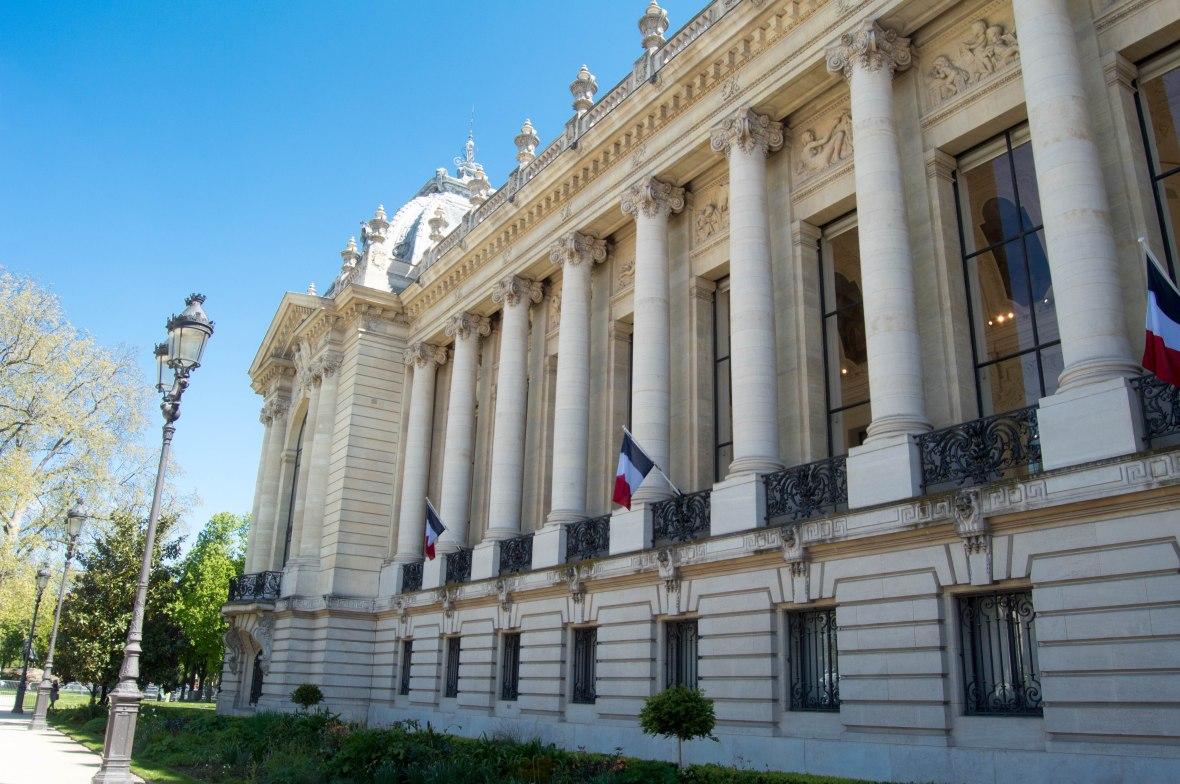 columns, grand palais, paris, france
