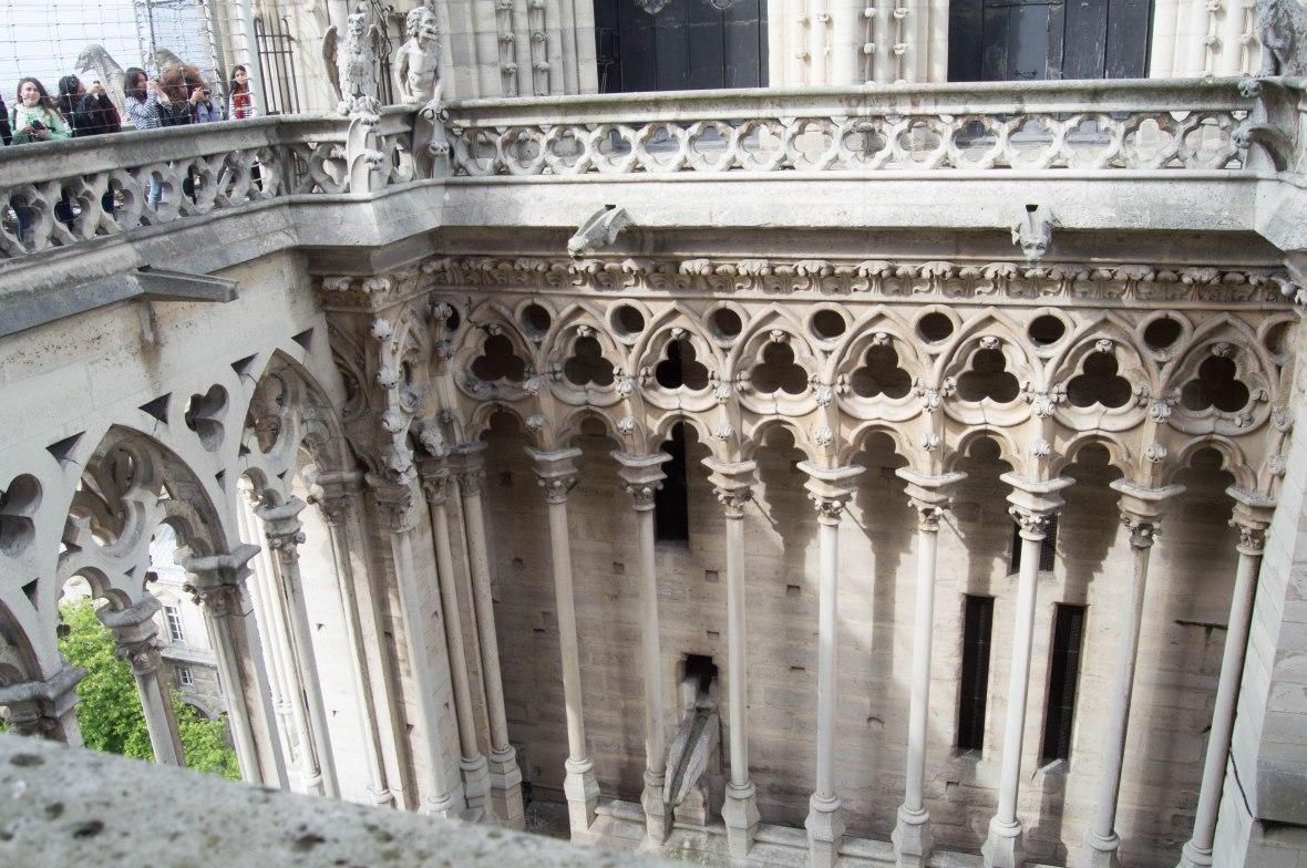 Columns, Notre Dame, Paris, France