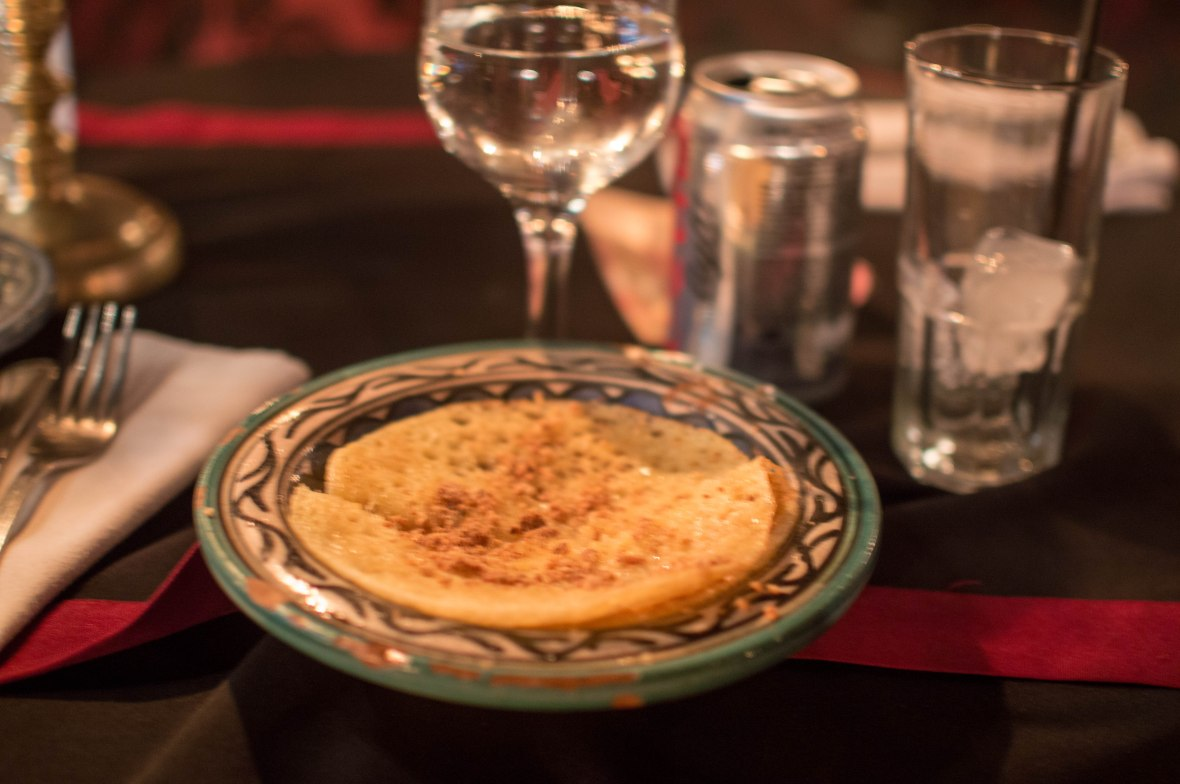 Crepes Barberes Au Miel, Le Marrakchi Restaurant, Marrakech, Morocco