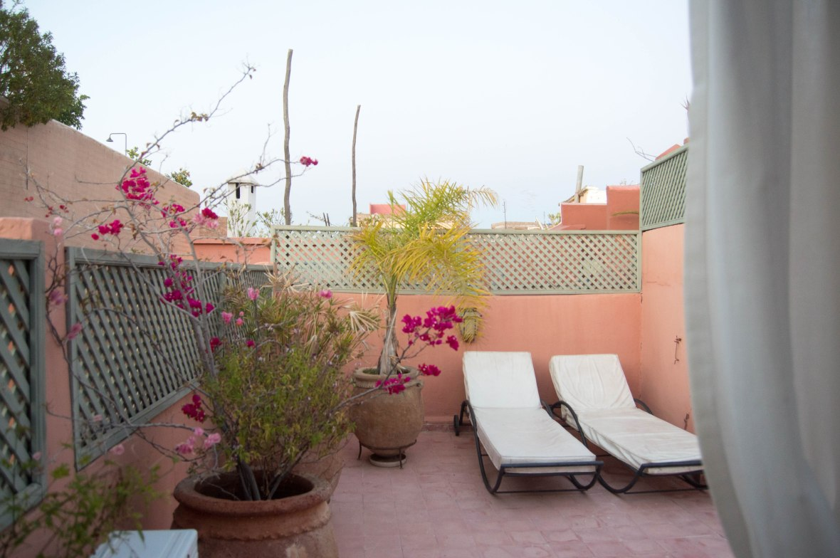 Deck Chairs, AirBnB Riad, Marrakech, Morocco