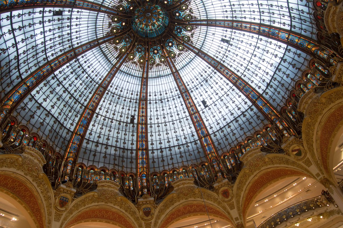 Domed Ceiling, Galeries Lafayette, Paris, France
