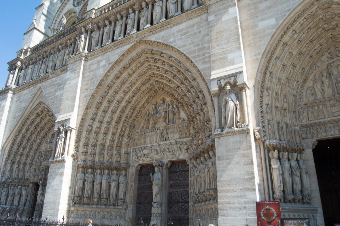 Doorway, Notre Dame, Paris, France