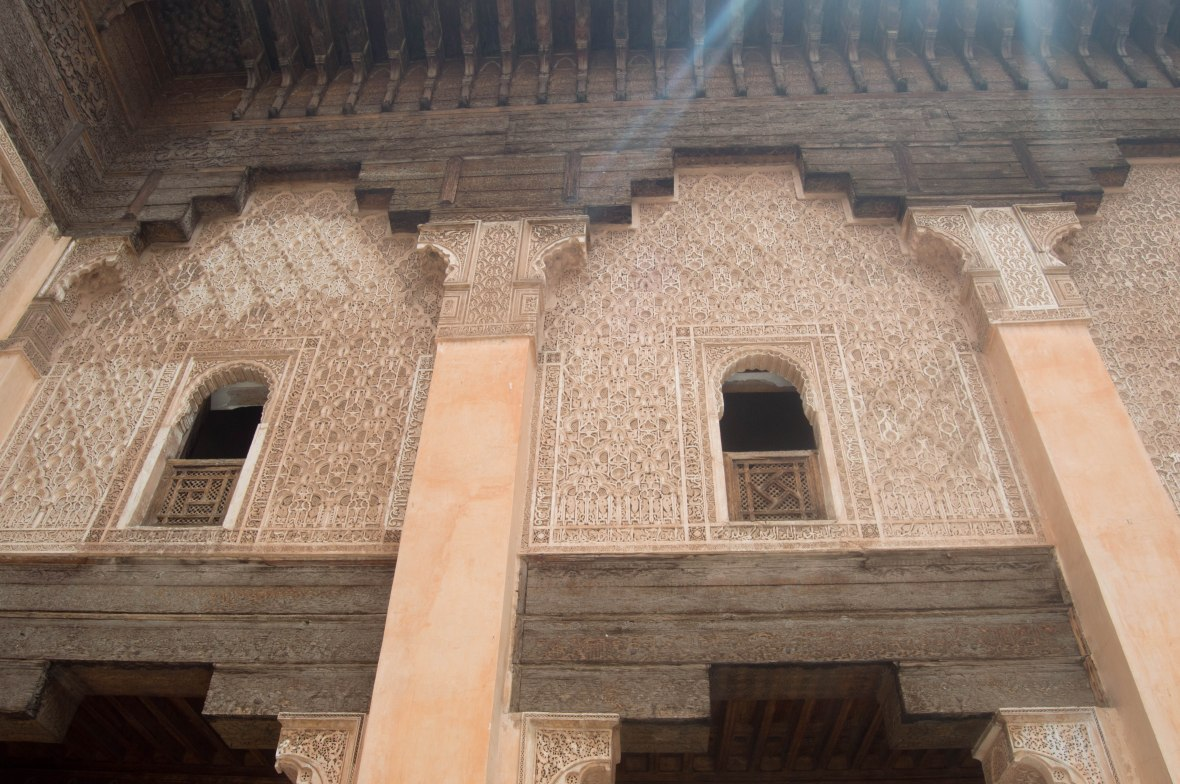 Dorm Windows, Ben Youssef Madrasa, Marrakech, Morocco