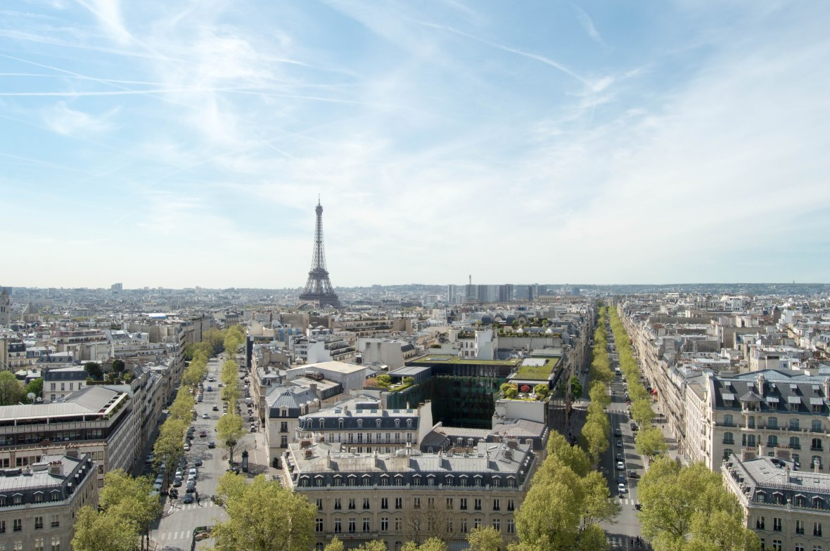 Eiffel Tower From Le Arc De Triomphe, Paris, France