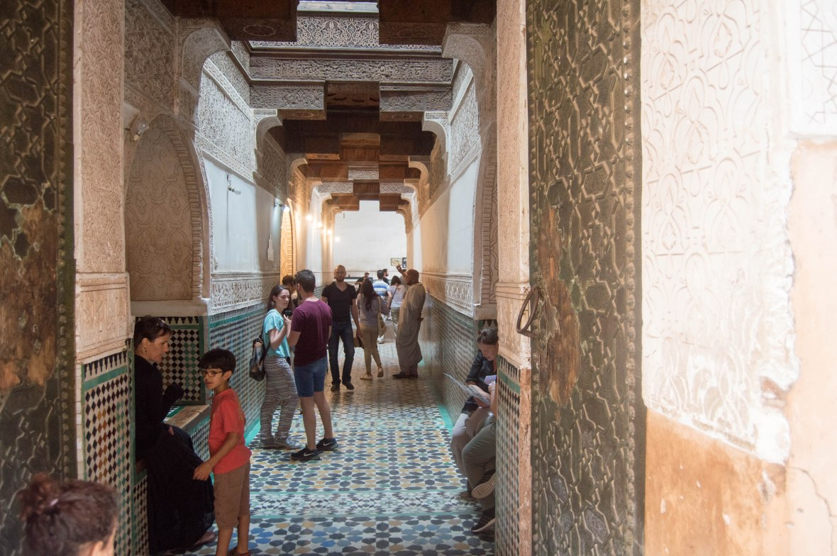 Entrance, Ben Youssef Madrasa, Marrakech, Morocco