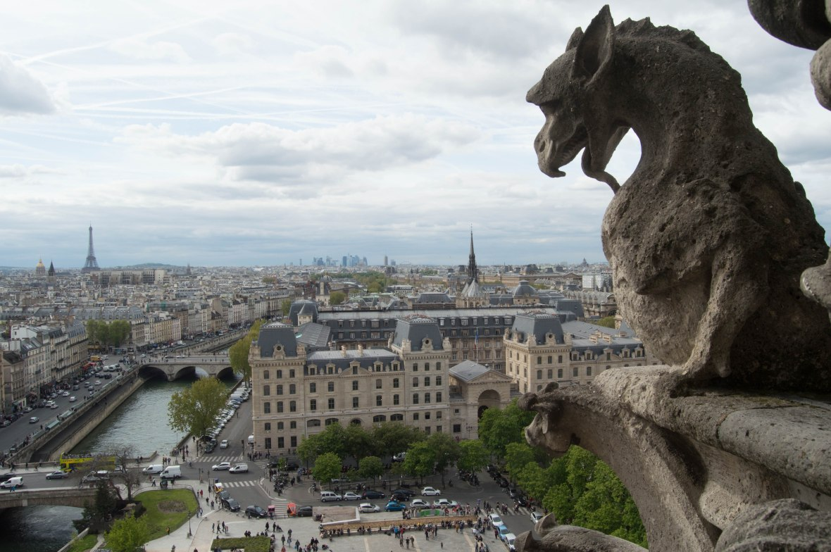 Gargoyles of Notre Dame, Paris, France