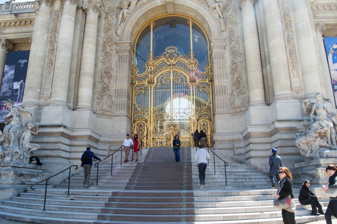 golden doors, petit palais, paris, france