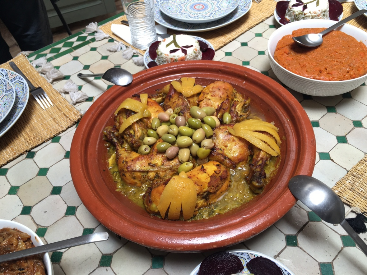 Homemade Chicken Tagine, Marrakech, Morocco