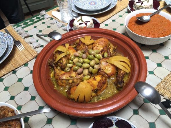 Homemade Chicken Tagine, Marrakech, Morocco