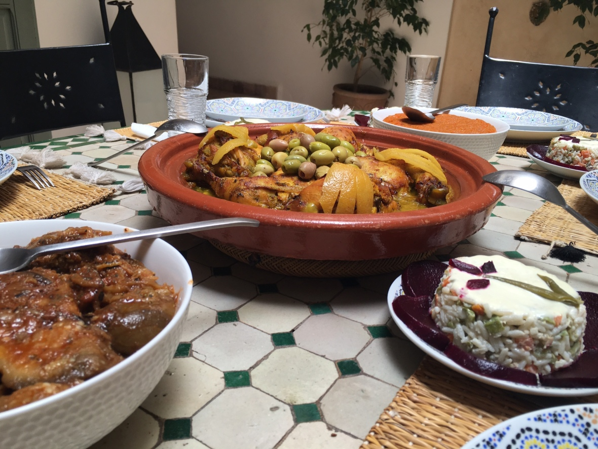 Homemade Lunch, Marrakech, Morocco