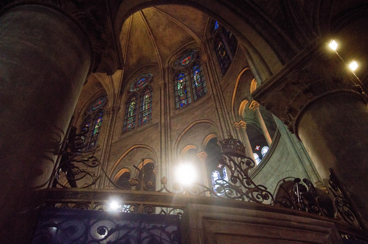 Inside Notre Dame, Paris, France