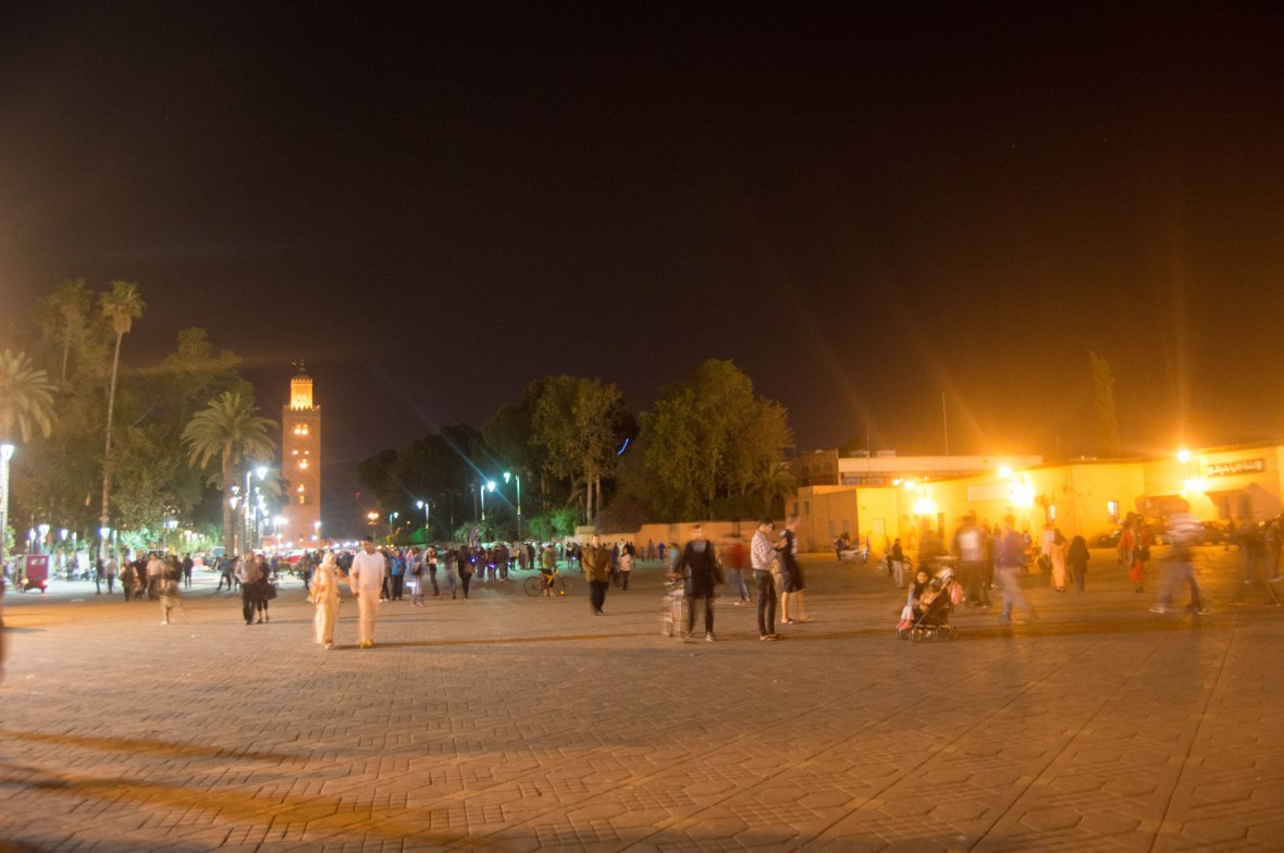 Jemaa El Fna At Nightfall, Marrakech, Morocco