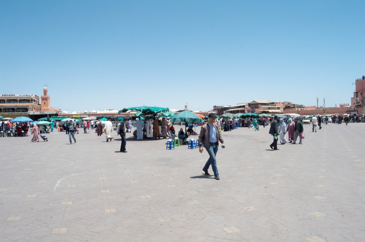 Jemaa El Fna During The Day, Marrakech, Morocco