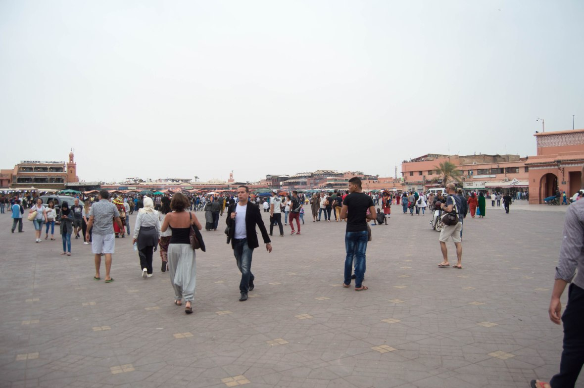 Late Afternoon At Jemaa El Fna, Marrakech, Morocco