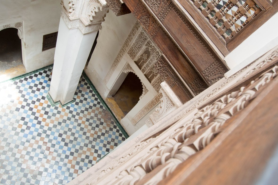 Looking Down, Ben Youssef Madrasa, Marrakech, Morocco