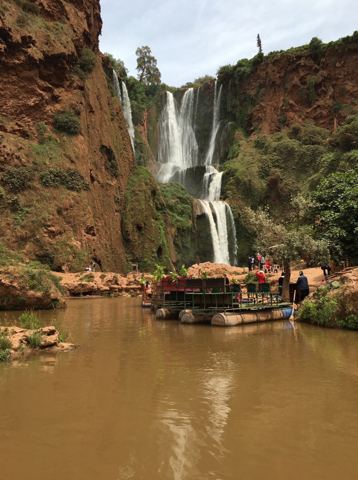 Looking Up At The Ouzoud Falls, Morocco