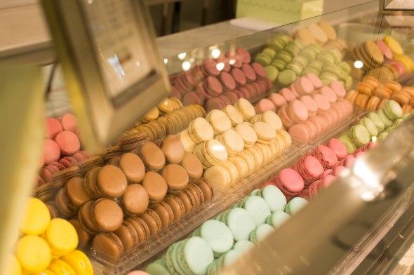 Macaron Display, Laduree, Paris, France