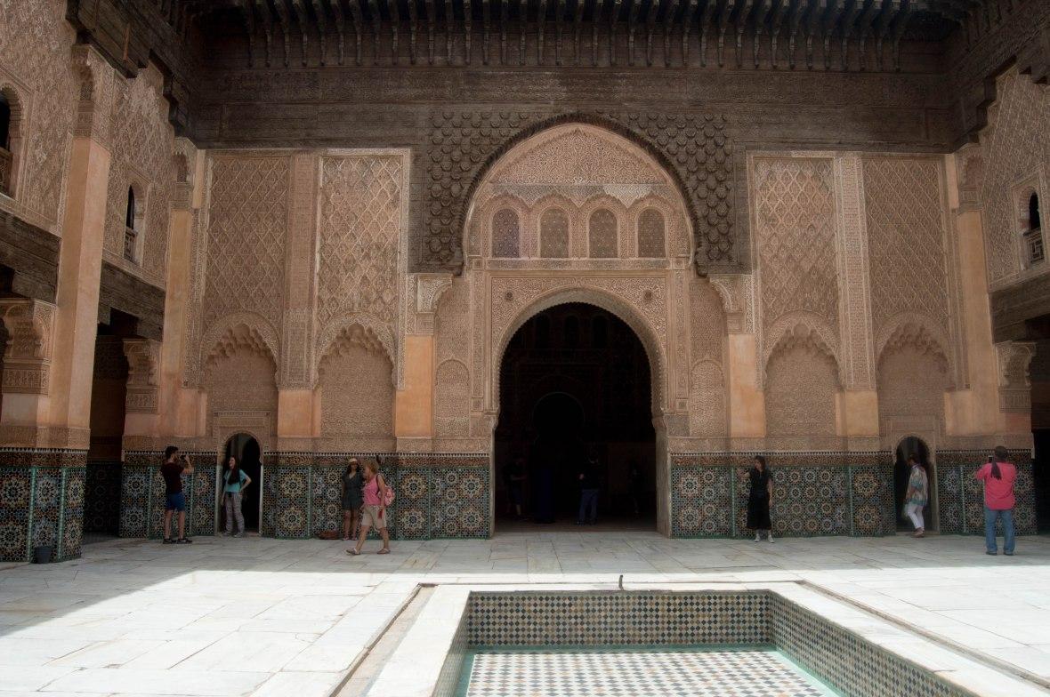 Main Courtyard, Ben Youssef Madrasa, Marrakech, Morocco