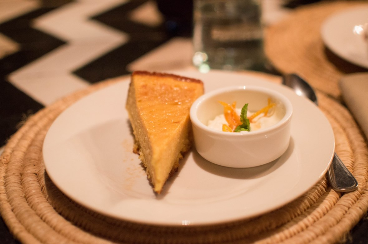 Orange Cake With Whipped Cream, Nomad, Marrakech, Morocco