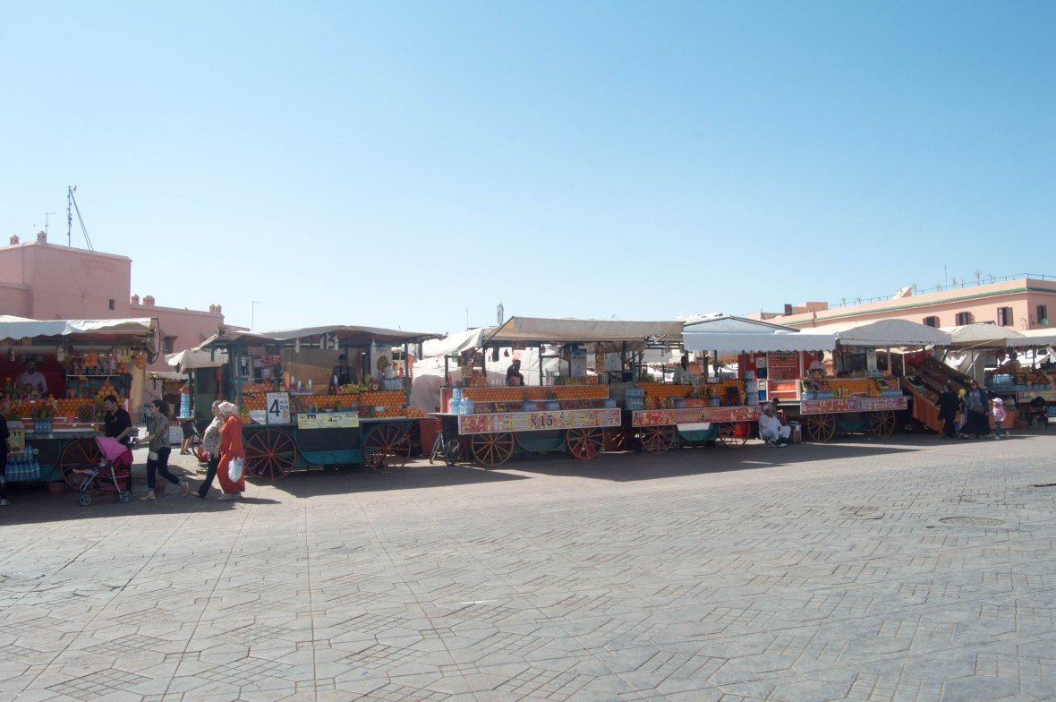 Orange Juice Stands, Jemaa El Fna, Marrakech, Morocco