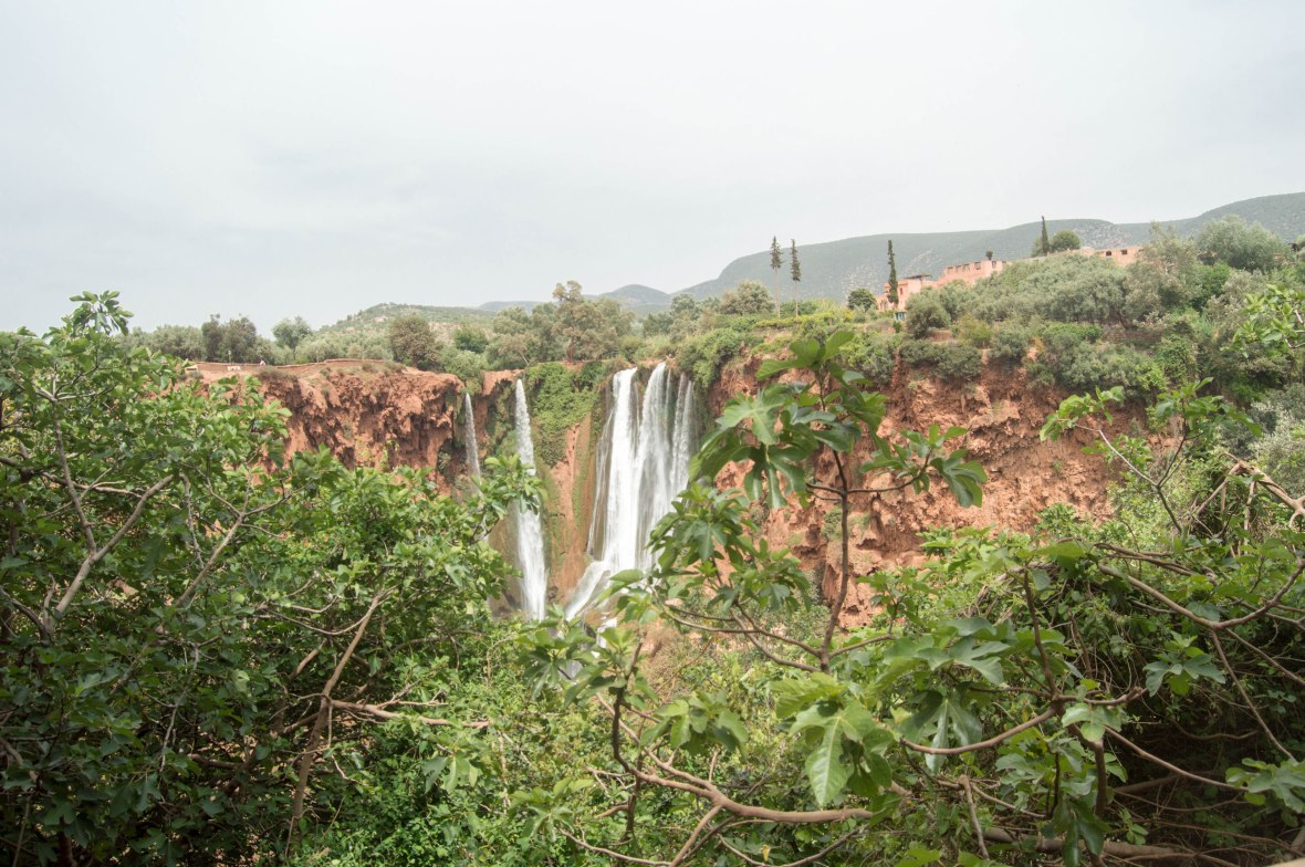 Ouzoud Falls From The Top, Morocco