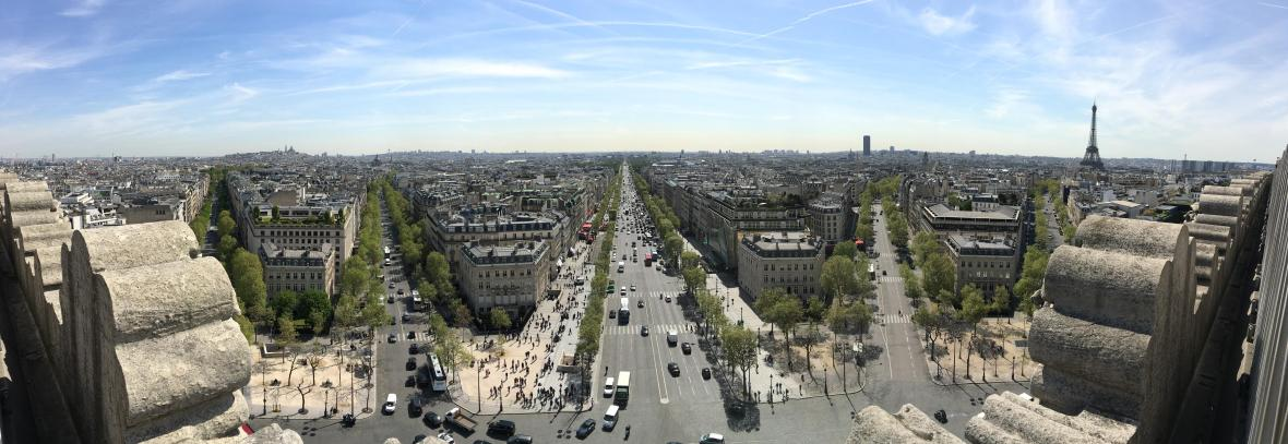 Panoramic Picture, View From Arc de Triomphe, Paris, France