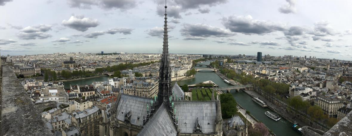 Panoramic View From Notre Dame, Paris, France