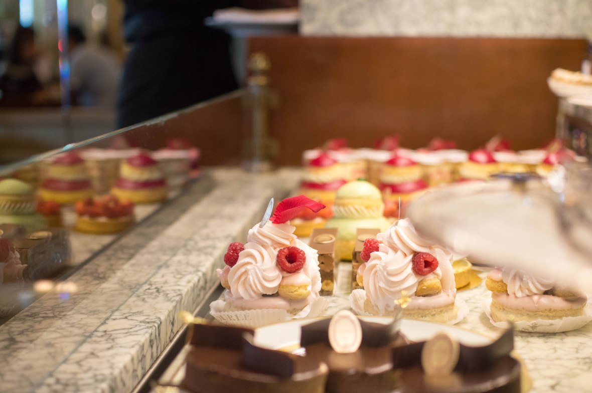 Pastries, Laduree, Paris, France