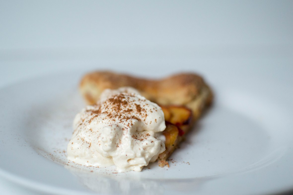 Peach Galette With Cinnamon Whipped Cream – Kay's Kitchen