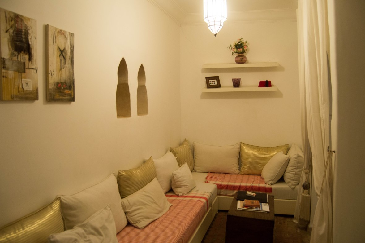 Sitting Room, AirBnB Riad, Marrakech, Morocco