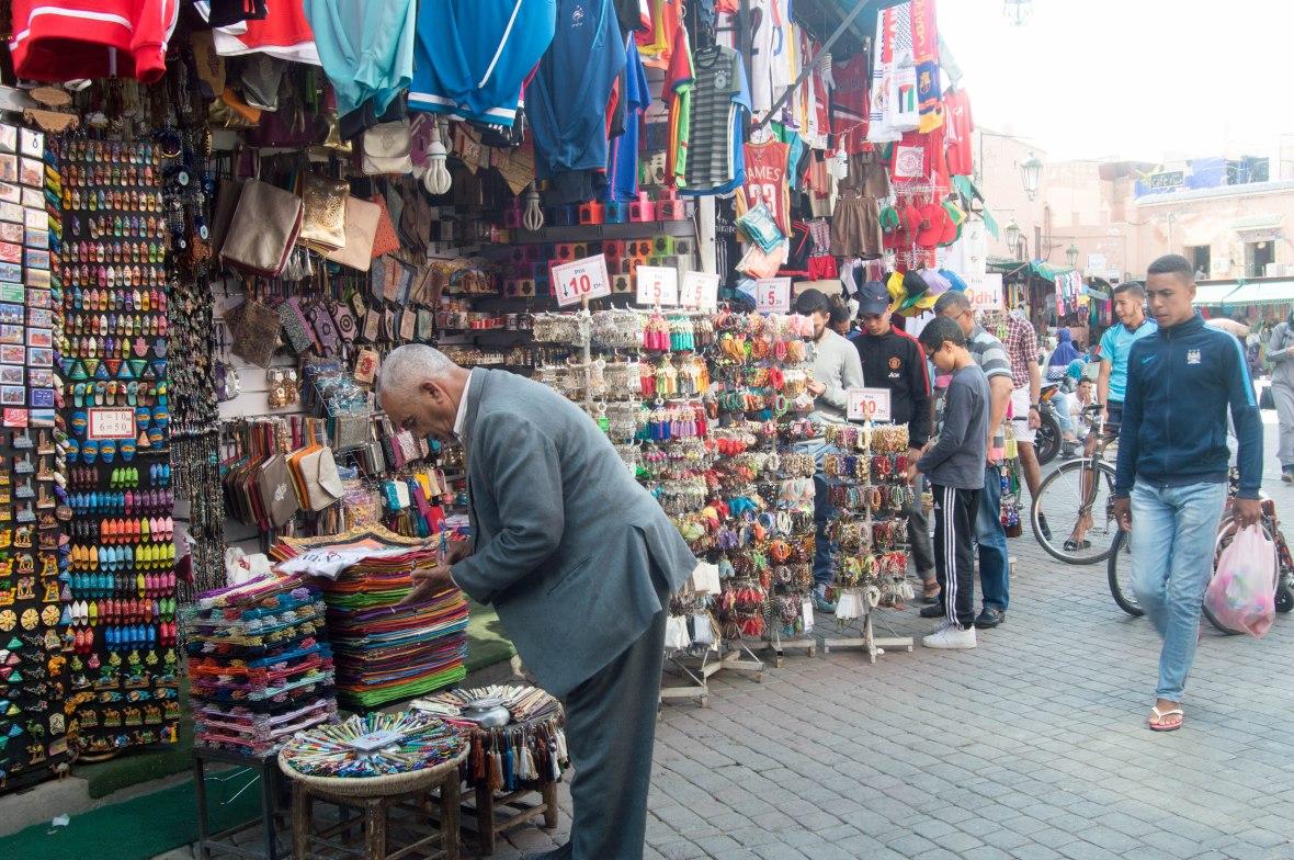 Souvenirs, Souks, Marrakech, Morocco