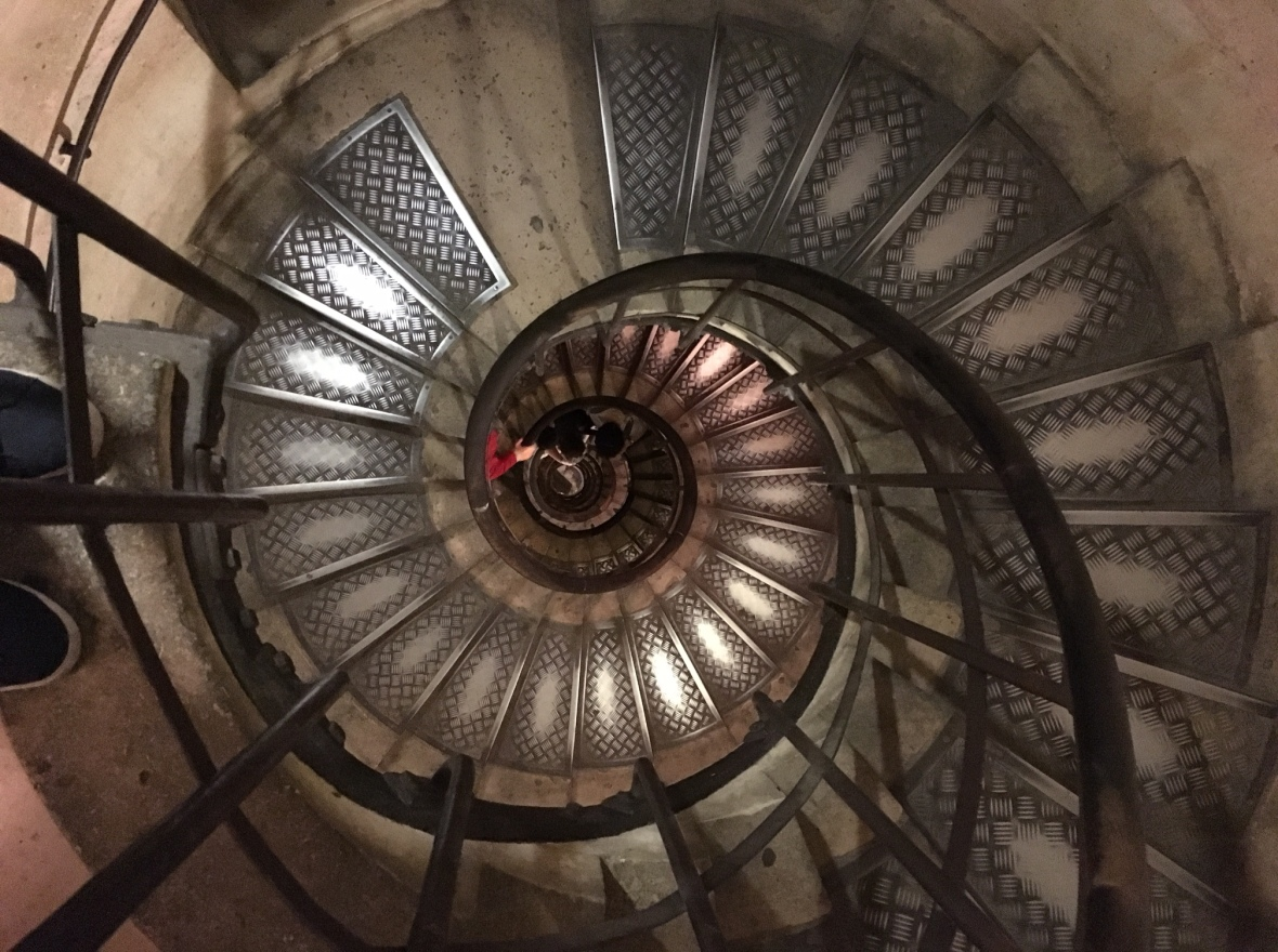 Spiral Staircase, Arc de Triomphe, Paris, France