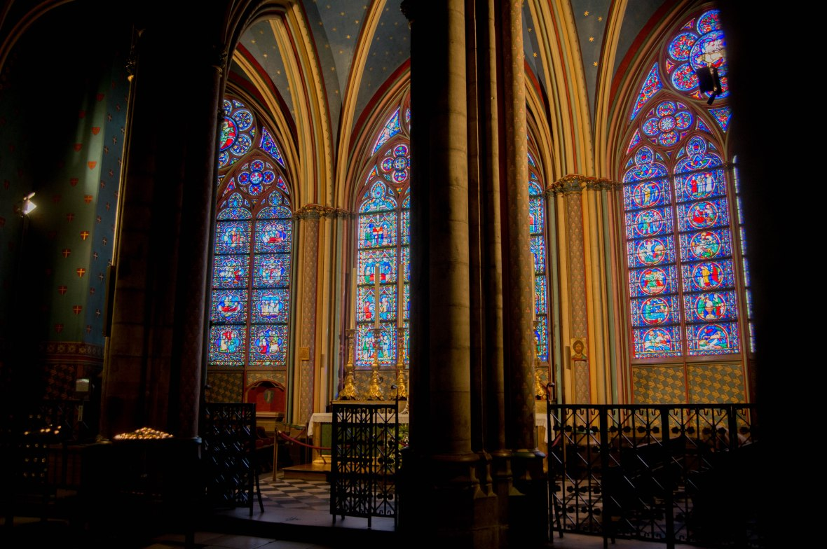 Stain Glass Windows, Notre Dame, Paris, France