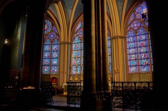 Stain Glass Windows, Notre Dame, Paris, France