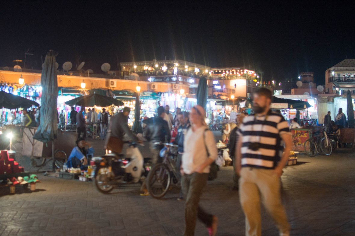 Stalls At Night, Jemaa El Fna, Marrakech, Morocco