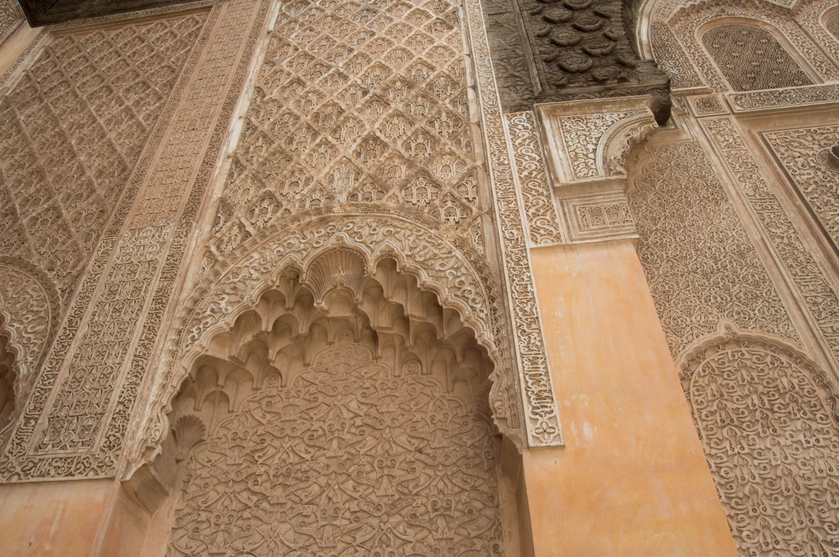 Stonework, Ben Youssef Madrasa, Marrakech, Morocco