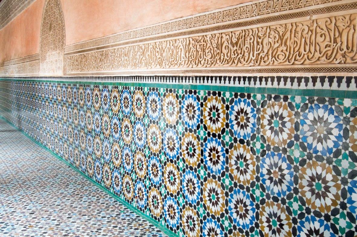 Tiles, Ben Youssef Madrasa, Marrakech, Morocco