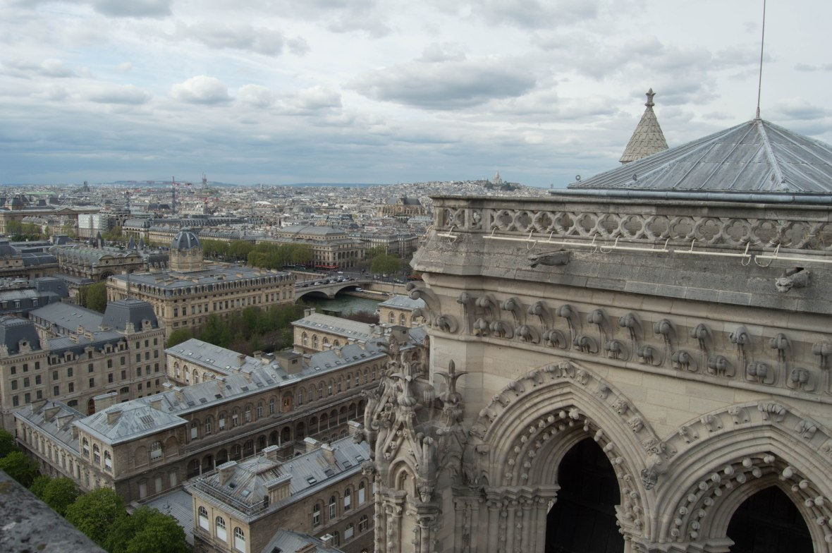 View From Notre Dame In Paris, France