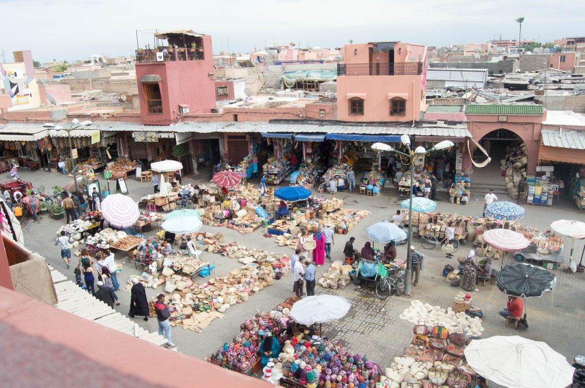 View From Terrasse des Epices, Marrakech, Morocco
